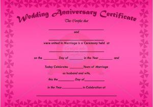 Wedding Anniversary Certificate Template Wedding Anniversary Certificate Template Anniversary