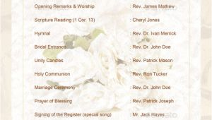 Wedding Blessing order Of Service Template Wedding order Template 38 Free Word Pdf Psd Vector