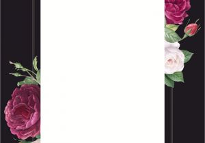 Wedding Card Background Designs Free Floral Wedding Invitation Mockup Vector Free Image by