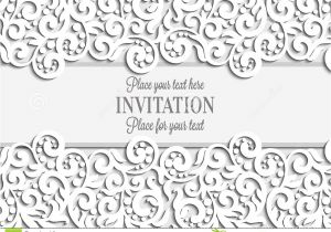 Wedding Card Background Designs Free Wedding Card with Paper Lace Frame Lacy Doily Stock Vector