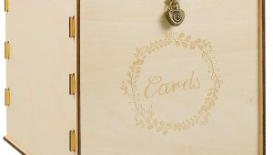 Wedding Card Box with Lock Wooden Wedding Card Box with Security Heart Locki Rustic Wedding Envelope Box Decorative Gift Card Box Perfect for Weddings Baby Showers