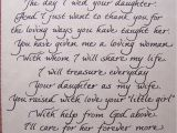 Wedding Card for Daughter and son In Law A Poem for the Mother Of the Bride Wedding Speech Wedding
