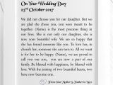 Wedding Card for Daughter and son In Law son In Law On Your Wedding Day Framed Personalised Poem