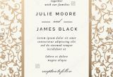 Wedding Card Rates In Mumbai Vintage Wedding Invitation Template with Golden Floral Backg
