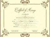 Wedding Ceremony Certificate Template Marriage Certificate 05 Pinterest Wedding Certificate