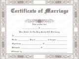 Wedding Ceremony Certificate Template Printable Marriage Certificate Templates 10 Editable