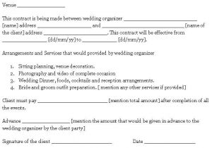 Wedding Flower Contract Template Wedding Contract Template Sample Templates Pinterest