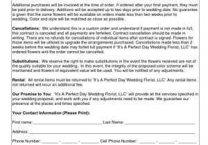Wedding Flower Contract Template Wedding Flower Contracts Documents Pinterest Flower