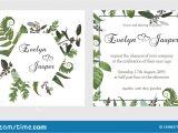 Wedding Invitation Card Flower Design Set for Wedding Invitation Greeting Card Save Date Banner