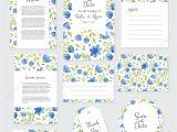 Wedding Invitation Card Flower Design Vector Gentle Wedding Cards Template with Flower Design Invitation