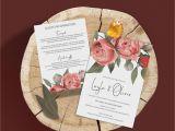 Wedding Invitation Card Flower Design Wedding Invitation Stationery Suite the Laylah