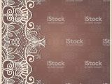 Wedding Invitation Card Red Background Design Abstract Background Lacy Frame Border Pattern Wedding