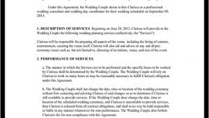 Wedding Planner Contract Template Wedding Planner Contract Template Free Wedding Planner
