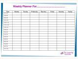 Week organizer Template 6 Week Planner Template Teknoswitch