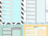 Week organizer Template Free Weekly Menu Planner Printable 4 Colors Cupcake
