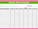 Week organizer Template Printable Weekly Schedule Template Excel Planner
