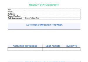Weekly Update Email Template 6 Awesome Weekly Status Report Templates Free Download