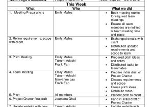 Weekly Update Email Template Project Update Template 7 Free Word Pdf Documents