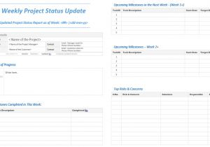 Weekly Update Email Template Weekly Project Status Update Template Analysistabs
