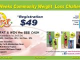 Weight Loss Challenge Flyer Template Free Promotions First Nutrition