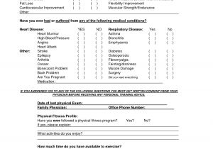 Weight Loss Questionnaire Template Workout Questionnaire Eoua Blog