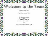 Welcome Certificate Templates Award Certificate Templates