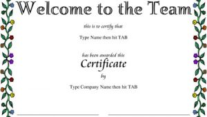 Welcome Certificate Templates Award Certificate Templates