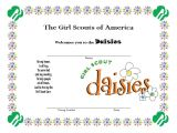 Welcome Certificate Templates Girl Scout Daisy Welcome Certificate Daisy Girl Scouts
