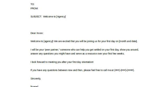 Welcome Email Template for New Employee Welcome Email Template 5 Free Word Pdf Documents