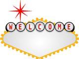 Welcome to Las Vegas Sign Template Blank Vegas Sign Clip Art at Clker Com Vector Clip Art
