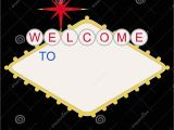 Welcome to Las Vegas Sign Template Blank Welcome to Las Vegas Sign Stock Illustration
