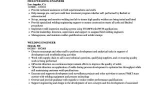Weld Shop Engineer Resume Welding Engineer Resume Samples Velvet Jobs