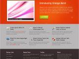 What are HTML Templates orange Bond Free HTML Css Templates