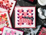What Did the Valentine Card Say to the Stamp Simon Says Stamp Stencils Set Heart Layers Ssst121435 You