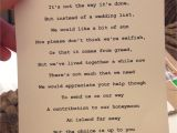 What Do You Write In A Marriage Card Little Poem with Wedding Invitation asking Guests to Put A