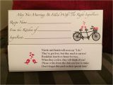 What Do You Write In A Marriage Card Recipe Card for Bridal Shower Cute Poem with Images