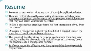 What Does Resume Mean In A Job Application Job Application Letters Resume