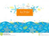 What is A Border Card Vector Seamless Border with Sea Elements Stock Vector