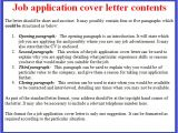 What is A Cover Letter On An Application Job Application Letter Example October 2012