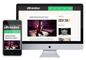 What is A Responsive Template Zbrandon Free Responsive HTML5 theme Zerotheme