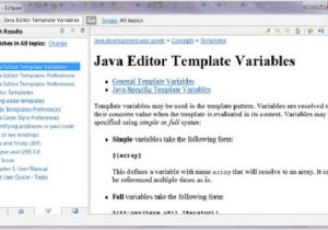 What is A Template In Java Eclipse Code Templates