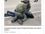 What is A Us Border Crossing Card This is A Photo Of Canadian Law Enforcement Arresting A