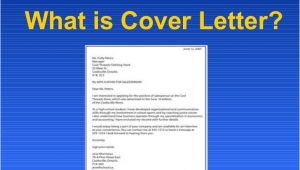 What is Mean by Cover Letter What is Cover Letter