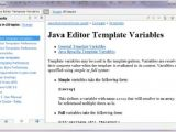What is Template In Java Eclipse Code Templates