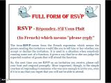 What is the Full form Of Rsvp In Marriage Card What is the Full form Of Rsvp