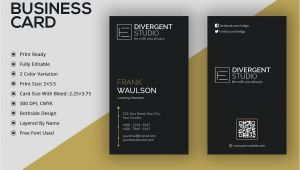 What Size is A Business Card Vertical Business Card A A µa A A A A A