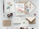 What to Include On Details Card Wedding Calligraphy Floral Wedding Invitations with Envelopes Line