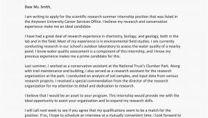 What to Put In A Cover Letter for An Internship Cover Letter for An Internship Sample and Writing Tips