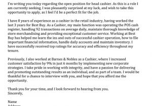 What to Write In A Cover Letter for Retail Retail Cover Letter Samples Resume Genius