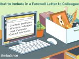 What to Write In A Farewell Card to A Work Colleague Farewell Letter Samples and Writing Tips